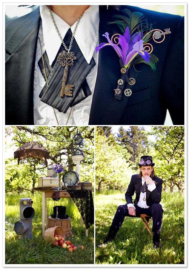 Steampunk Styled Shoot by Deanna McCollum Photography on ArtfullyWed.com