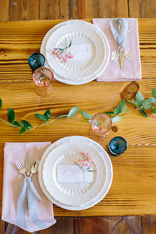 A bright and whimsical breakfast wedding inspiration shoot by Ellen Ashton Photography