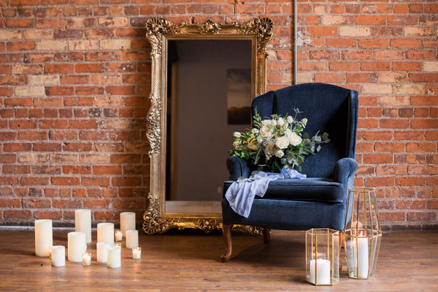 A beautifully modern and elegantly ethereal downtown wedding inspiration shoot with industrial style by Emily Eileen Photography and Event Prep