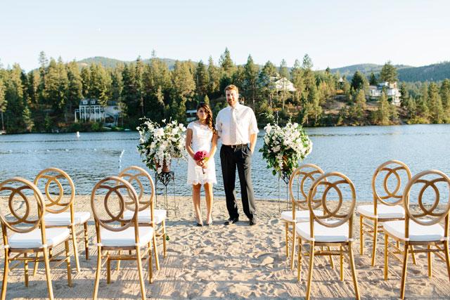 A navy, pink and gold wedding inspiration shoot inspired by sophistication on the river   Emily Wenzel Photography & Red Letter Event Planning