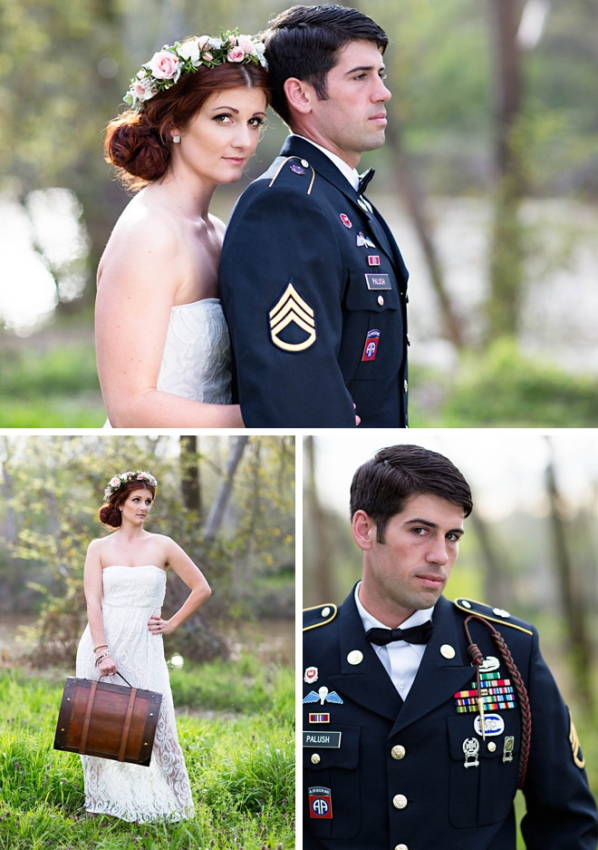 A Military Couple's Styled Wedding Shoot by Erin Costa Photography on ArtfullyWed.com