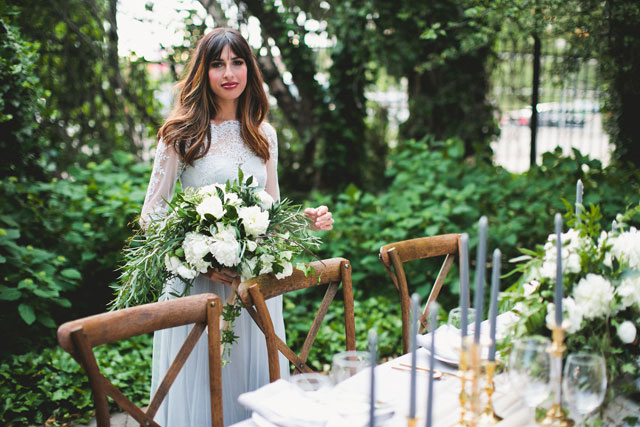 An elegant and refined gray and gold styled shoot by Erin Hannum Photography