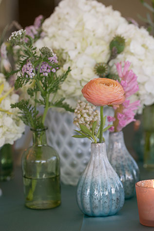 A watercolor themed styled shoot with vibrant artistic details, bowling and bocce ball   Erin Johnson Photography: http://www.erinjohnsonphotoblog.com