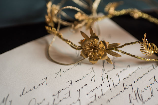 A stunning, vintage proposal inspiration shoot featuring a love story told through handwritten letters by Erin Tetterton Photography