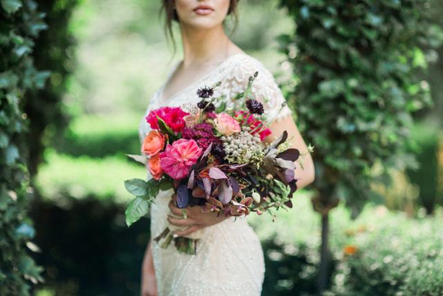 A romantic garden wedding inspiration shoot at Deepwood Historic Estates by Gina Neal Photography