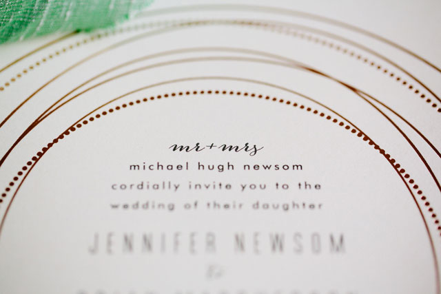 Glam Mint and Rose Gold Wedding Inspiration with Minted