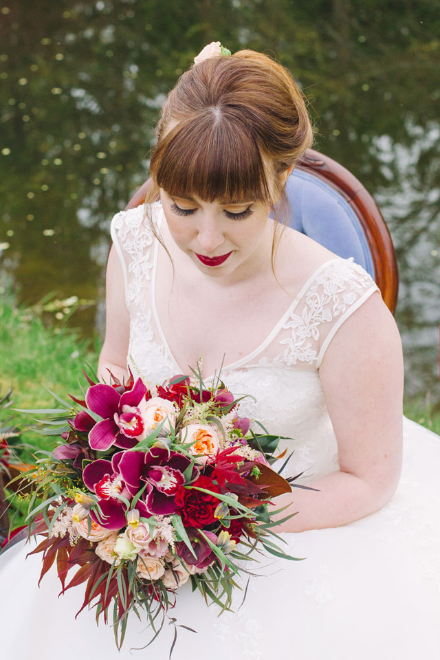 A vintage autumn styled shoot inspired by marsala, the Pantone color of the year   Gwen Ewart Photography: http://www.gwenewart.com