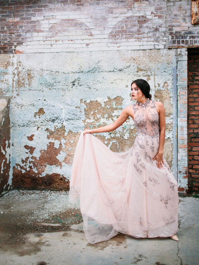A gorgeous Pantone Rose Quartz and Serenity elopement inspiration shoot with a stunning Indonesian gown by Jeff Brummett Visuals and Embrace the Day Events