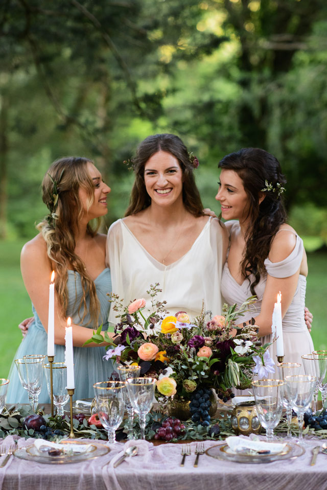 A nine muses wedding styled shoot with romantic Grecian details by Jessie Holloway Photography