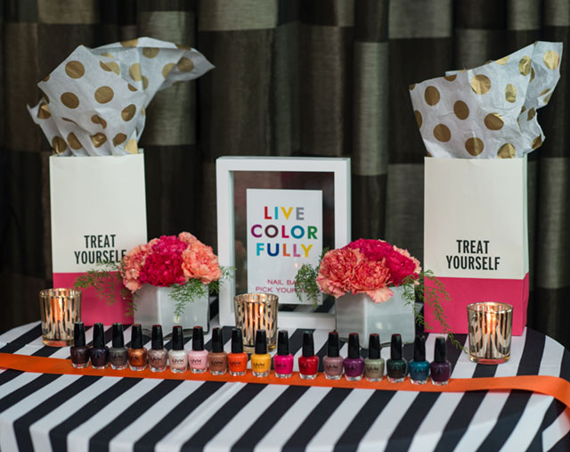 A colorful and beauty-inspired Kate Spade bridal shower // photos by Julie Anne Wedding Photography: http://www.julieannephoto.com || see more on https://blog.nearlynewlywed.com