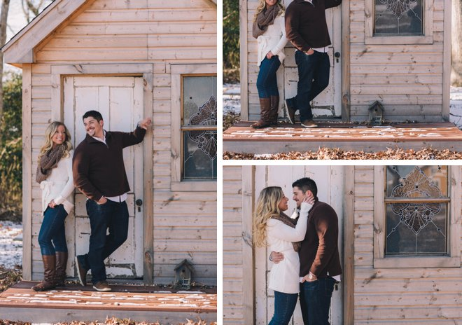 Aqua and Brown Winter Engagement Inspiration by Kaitlin Noel Photography on ArtfullyWed.com