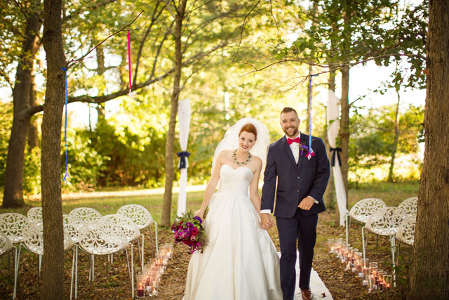 An autumn jewel toned styled wedding at a glass house in Big Grove Forest by Kaula Marie Photography