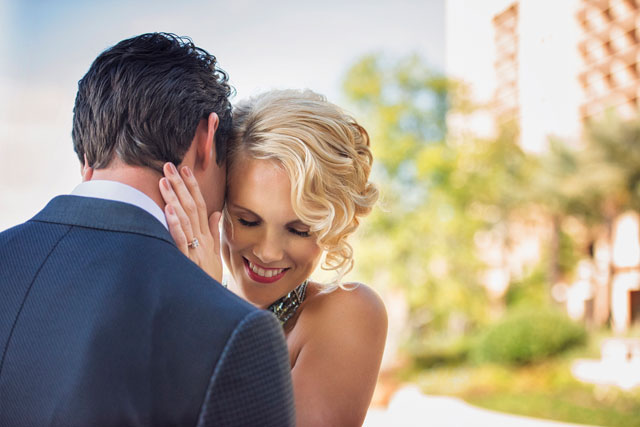 An editorial shoot featuring summer and fall bridal trends such as colored wedding gowns, metallics and more | KV Photography: http://www.kvphotographyonline.com