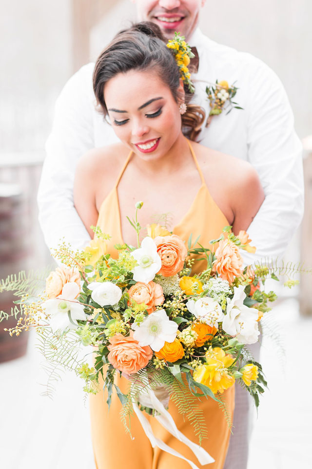 A cheerful, sunny yellow wedding styled shoot that inspires couples to plan a surprise wedding by Lauren Dobish Photography and Katydyd Events