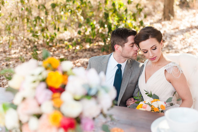 A beautiful springtime styled shoot with elegant calligraphy, stunning florals and organic details   Lauren R Swann Photography: http://laurenrswann.com