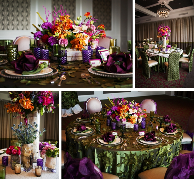 Radiant Orchid and Emerald Wedding Inspiration by Limelight Photography
