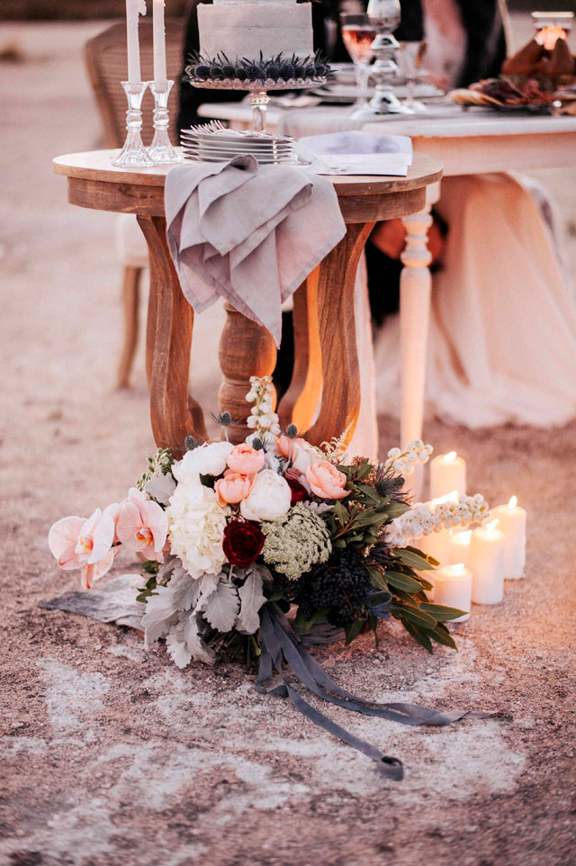 A romance at dusk styled shoot at the salt lakes in Western Australia by LoveHer Photography