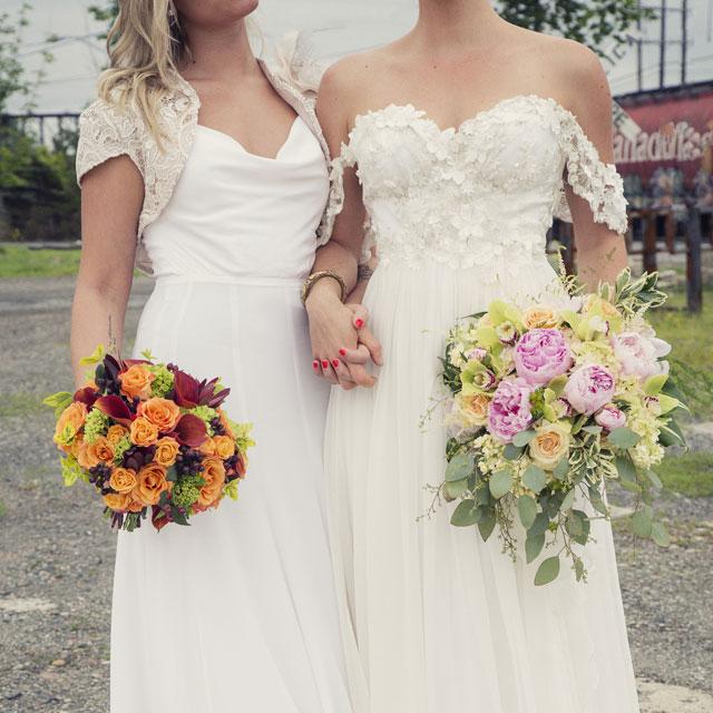 A dreamy, bohemian bridal editorial for a same sex coupleby Ella Sophie