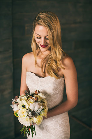 An industrial winter wedding styled shoot with copper and vintage details by Magnified Joy Photography