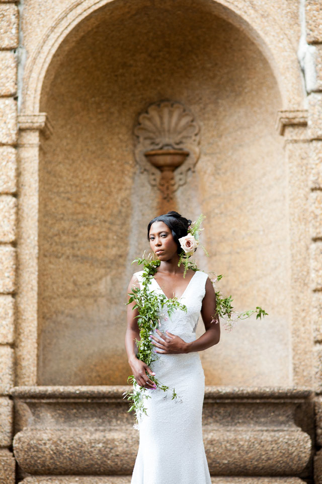 A quiet and intimate garden elopement inspiration shoot in Washington D.C. by Natarsha Wright Photography