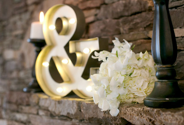 A classic and timeless black and gold horse farm wedding styled shoot by Nicole Taylor Photography