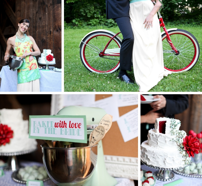 Romantic Red Covered Bridge Styled Shoot by Pill Photography