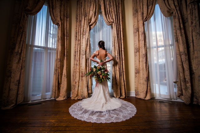 An elegant bridal editorial at a bed and breakfast, including a sophisticated boudoir shoot | Ross Costanza Photography: http://www.rosscostanza.com