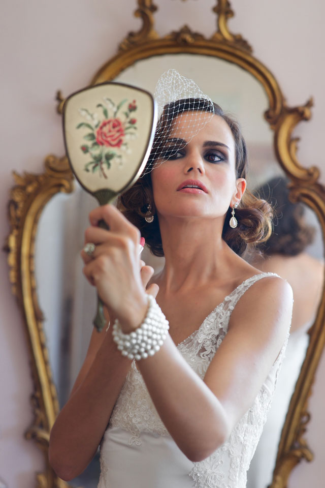 A glamorous, pearl-draped wedding styled shoot in Italy inspired by the Belle Epoque period   Rossini Photography: http://www.rossiniphotography.it