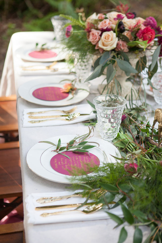 An Indian summer-inspired styled shoot with luscious berry hues to mark the transition from summer to fall   Sarah Elizabeth Photography: http://sarahelizabethcarson.blogspot.com   Loba Design Co.: http://www.lobadesignco.com