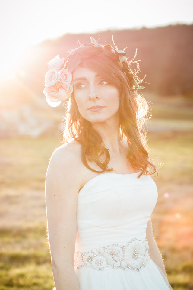 A bride uses her bridal portrait session to experiment with different hair styles for her wedding day look | Sarah Sidwell Photography: http://sarahsidwellphotography.com