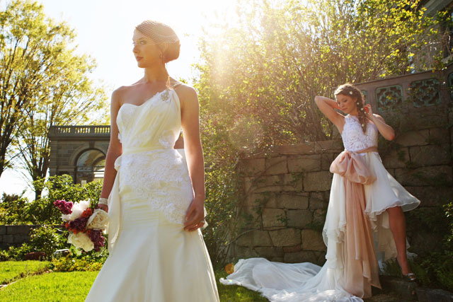 A bohemian spring wedding styled shoot showcasing different dresses and headpieces for the bride by Sebastian Photography