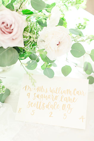 A classic yet whimsical white chapel wedding inspiration shoot with peonies and eucalyptus by Shauna Lynne Photography