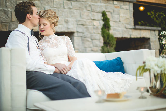 A wedding styled shoot centered around a Southern gothic feel with rich jewel tones and vintage pieces by SheHeWE Photography and Southern Events Party Rental Company