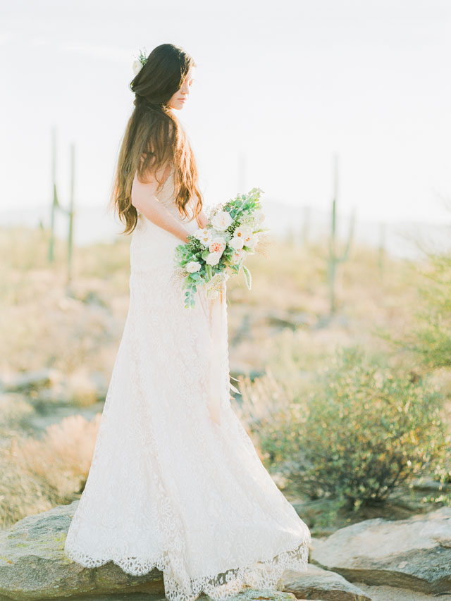 A Tuscan wedding inspiration shoot surrounded by the warm Arizona desert landscape by Shell Creek Photography