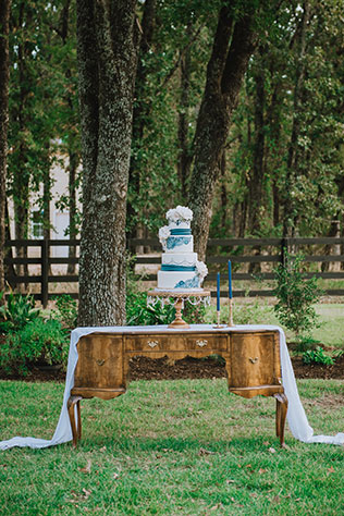 A dreamy white lace and roses wedding inspiration shoot at The White Sparrow Barn by Silver Bear Creative