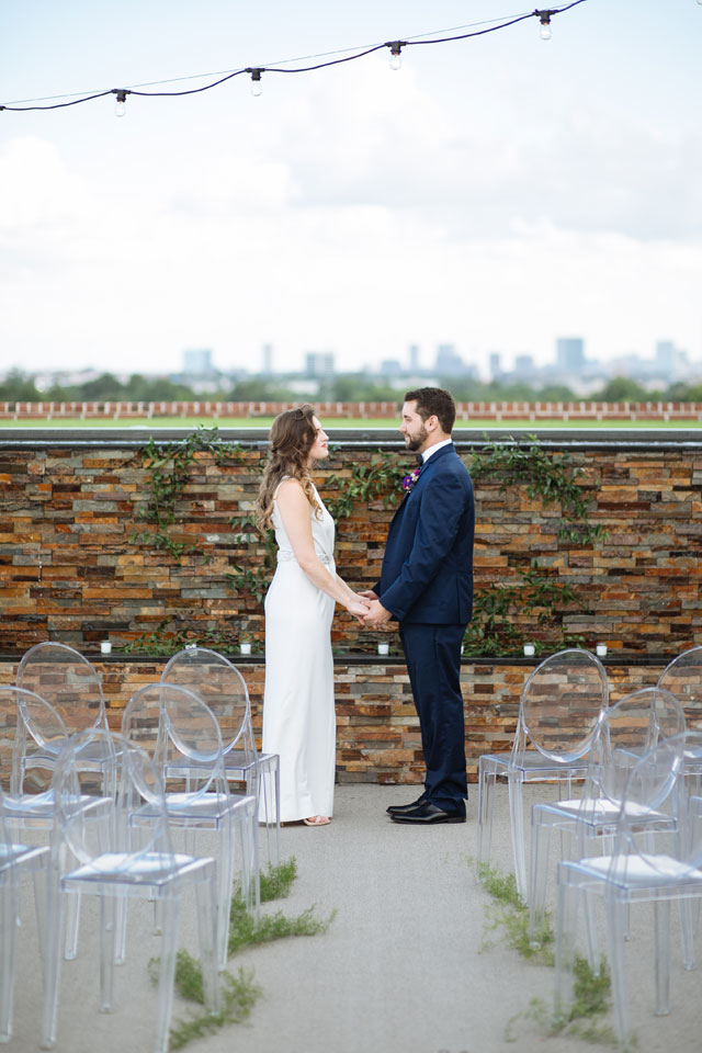 An urban sunset styled shoot on a rooftop in downtown Dallas by Smith House Photography