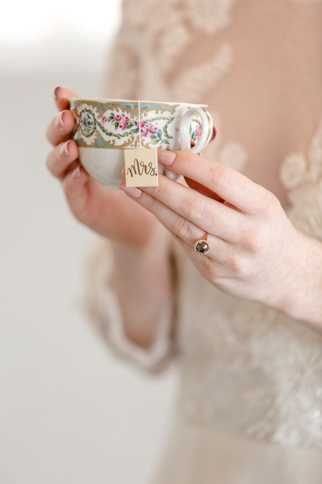 An elegant yet whimsical royal wedding inspired tea party elopement styled shoot by Something Blue Photography & Design