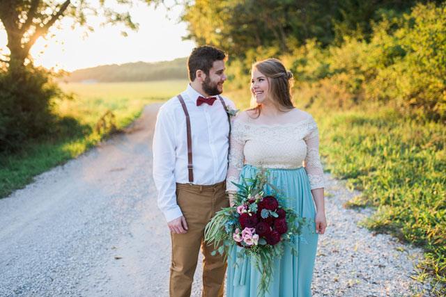 A romantic yet rustic backyard elopement inspiration shoot by Sophia Joël Photography