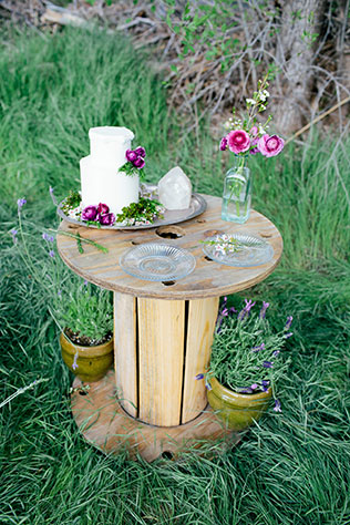 A desert elopement styled shoot in Arizona's Cave Creek including a horse and a natural palette of cream, green and lavender by Taylor Bellais Photography and Desert Whim