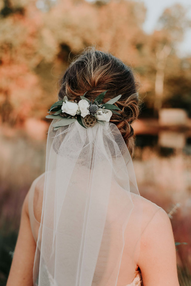 A stunningly romantic dusty blue wedding inspiration shoot with vintage details and an exquisite gown by Taylor Best Creative