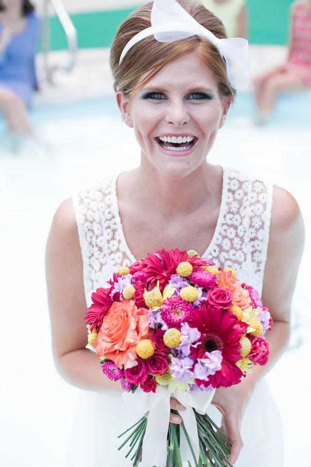 A retro-themed poolside bridal brunch styled shoot   Salt & Sky Studios: saltandskystudios.com