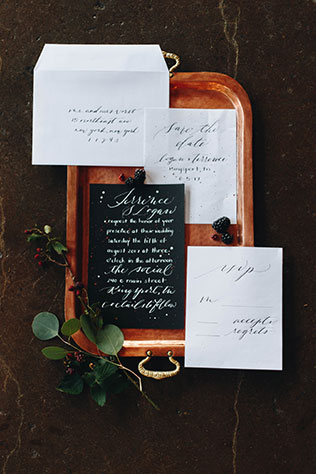 A distillery wedding styled shoot with local blackberries, custom cocktails and edgy vibe by Unbound Images