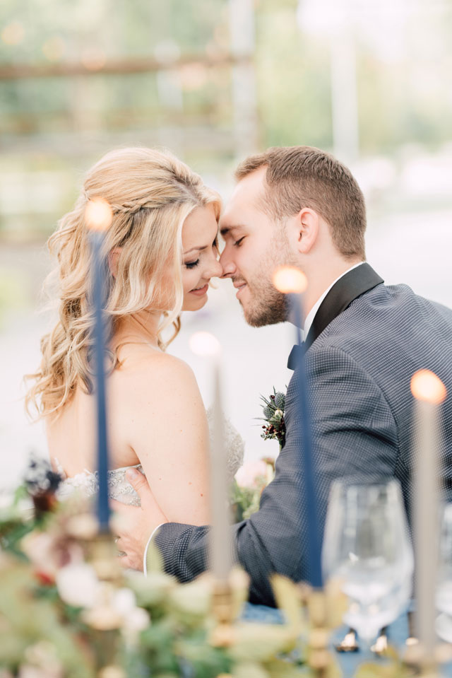 An ethereal greenhouse wedding inspiration shoot featuring rich colors and golden details by Victoria Isabel Photography