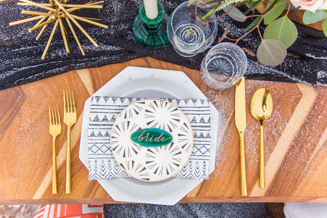 A snowy and intimate winter boho styled shoot in Denver by Erika Sandoval Event Planning & Design and Walnut Street Photography