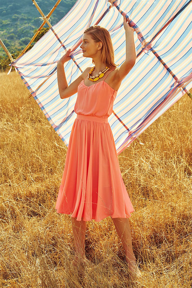 Peachtree Dress by Paper Crown | Wear it Again Coral Bridesmaid Dresses for Spring