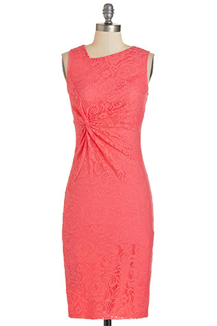 Sassy to See Dress in Coral | Wear it Again Coral Bridesmaid Dresses for Spring