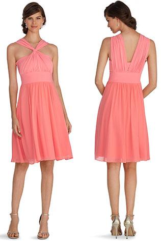 Genius Convertible Papaya Bridesmaid Dress   Wear it Again Coral Bridesmaid Dresses for Spring