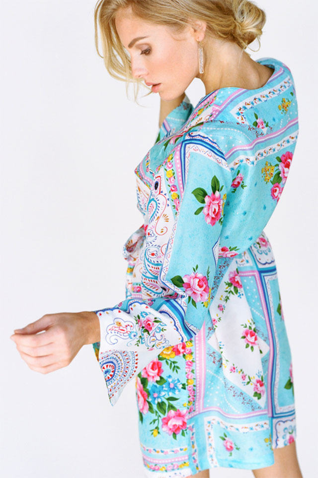 Kimono Style Robe - Silk Road Sweet | What to Wear for a Boudoir Session: Fun & Flirtatious Lingerie and Robes
