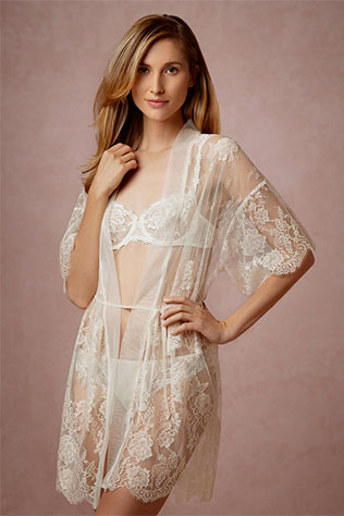 Mae Chantilly Lace Robe | What to Wear for a Boudoir Session: Sweet & Feminine Lingerie and Robes