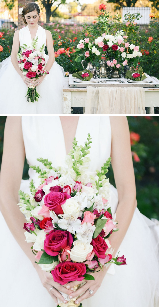 A rose garden themed inspiration shoot by Whittaker Portraits and #24KVendor Blue Daphne